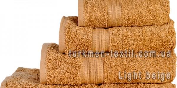 Махровое полотенце 50х90 см бежевого цвета 420 г/м2