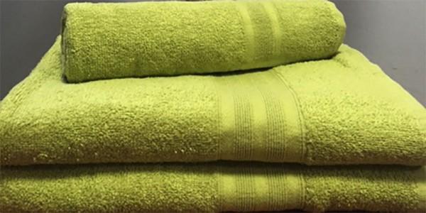 Махровое полотенце 100х150 см оливкового цвета 400 г/м2