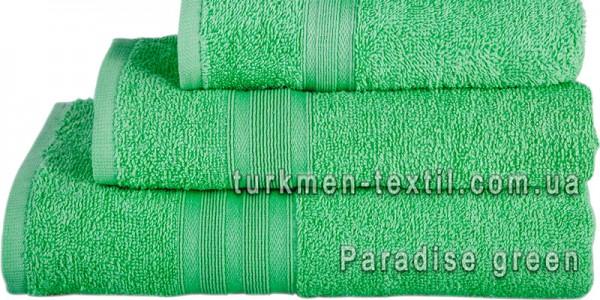 Махровое полотенце 50х90 см салатового цвета 420 г/м2