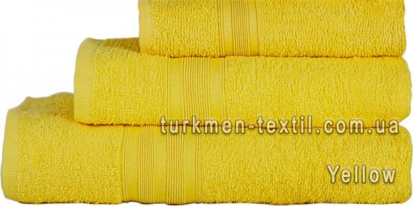 Махровое полотенце 50х90 см желтого цвета 420 г/м2
