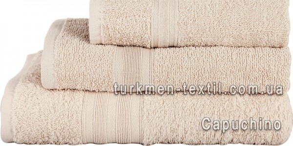 Махровое полотенце 50х90 см светло-бежевого цвета 420 г/м2