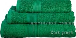 Полотенце 70х140 см темно-зеленого цвета 420 г/м2