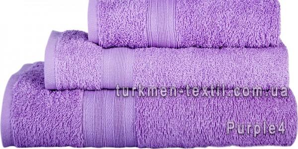 Махровое полотенце 100х150 см светло-фиолетового цвета 400 г/м2
