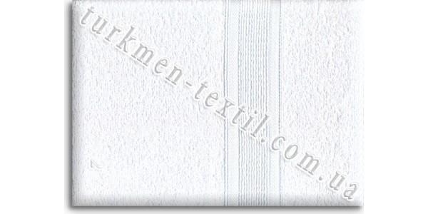 Махровое полотенце 100х150 см белого цвета 400 г/м2