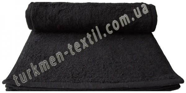Махровое полотенце 30х50 см черного цвета 420 г/м2
