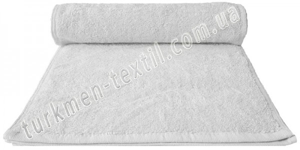 Махровое полотенце 30х50 см белого цвета 450 г/м2