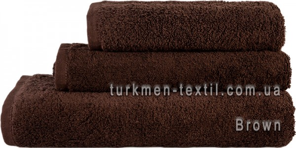 Махровое полотенце 50х90 см шоколадного цвета 500 г/м2
