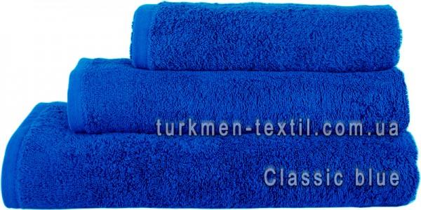 Махровое полотенце 70х140 см синего цвета 500 г/м2