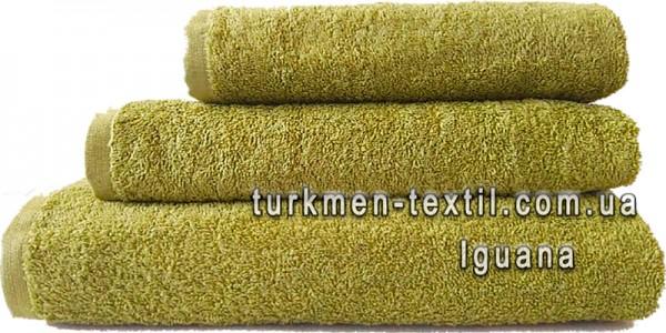 Махровое полотенце 50х90 см оливкового цвета 500 г/м2