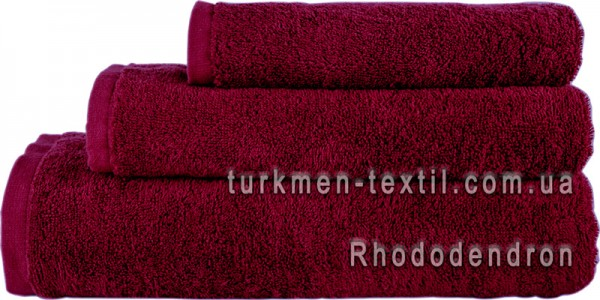 Махровое полотенце 50х90 см бордового цвета 500 г/м2