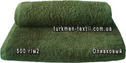 Полотенце 40х70 см оливкового цвета 500 г/м2