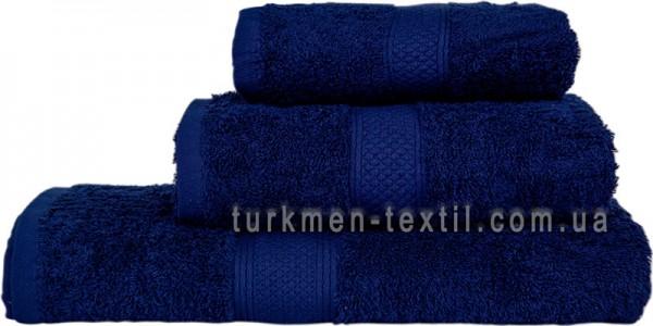Махровое полотенце 50х70 см темно-синего цвета 550 г/м2