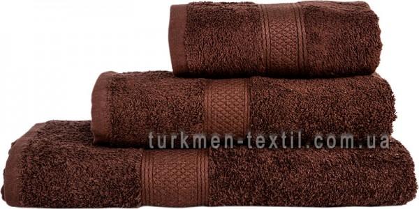 Махровое полотенце 50х70 см шоколадного цвета 550 г/м2