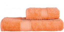 Полотенце 70х140 см кораллового цвета 550 г/м2