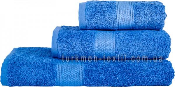 Махровое полотенце 70х140 см синего цвета 550 г/м2