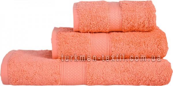 Махровое полотенце 50х70 см грейпфрутового цвета 550 г/м2
