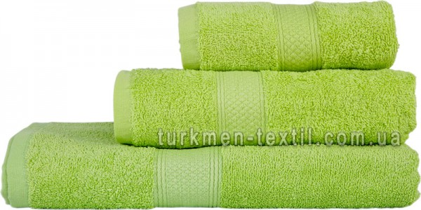 Махровое полотенце 50х100 см салатового цвета 550 г/м2