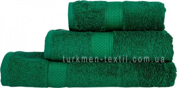 Махровое полотенце 70х140 см зеленого цвета 550 г/м2