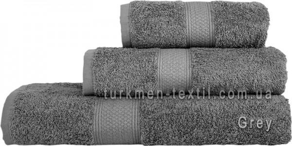 Махровое полотенце 50х100 см серого цвета 550 г/м2