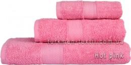 Полотенце 50х100 см розового цвета 550 г/м2