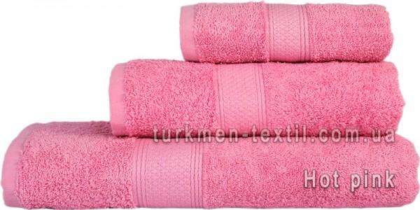 Махровое полотенце 50х100 см розового цвета 550 г/м2