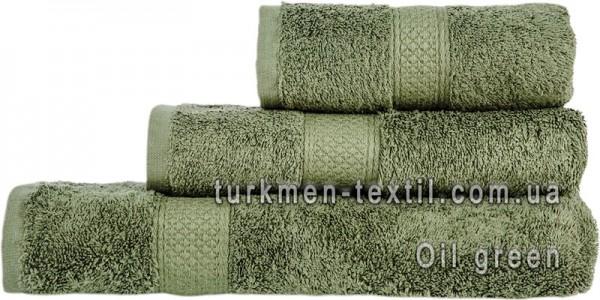 Махровое полотенце 70х140 см светло-оливкового цвета 550 г/м2
