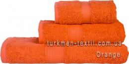 Полотенце 70х140 см оранжевого цвета 550 г/м2