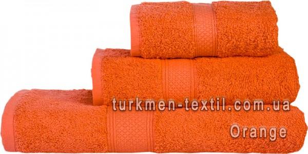 Махровое полотенце 70х140 см оранжевого цвета 550 г/м2