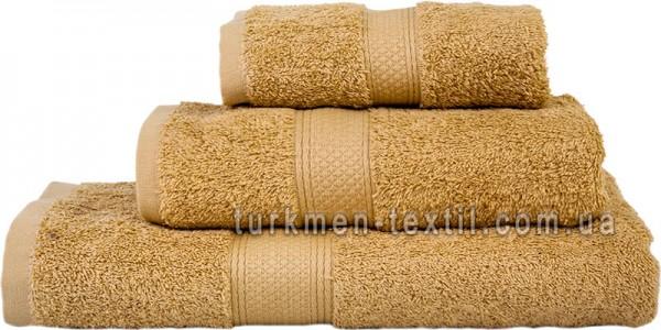 Махровое полотенце 50х70 см бежевого цвета 550 г/м2