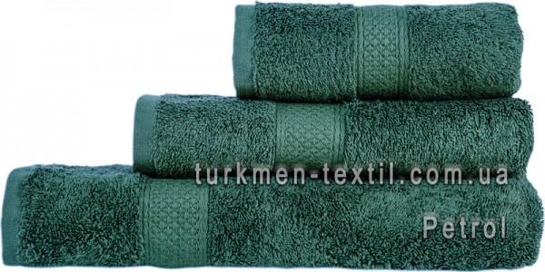 Махровое полотенце 70х140 см темно-изумрудного цвета 550 г/м2