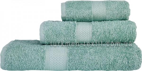 Махровое полотенце 50х100 см шалфейного цвета 550 г/м2