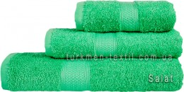 Полотенце 70х140 см светло-зеленого цвета 550 г/м2