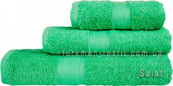 Махровое полотенце 50х100 см светло-зеленого цвета 550 г/м2