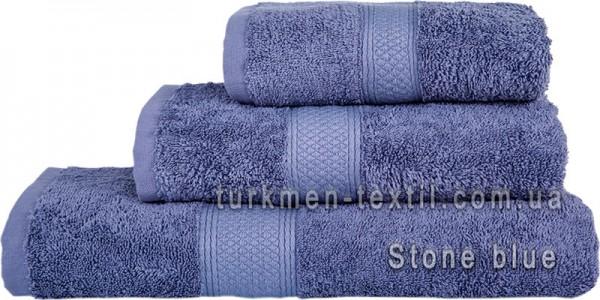 Махровое полотенце 70х140 см серо-голубого цвета 550 г/м2
