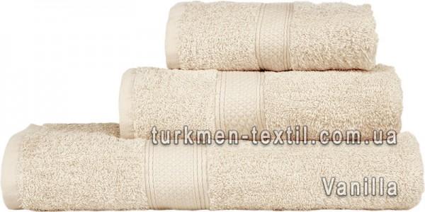 Махровое полотенце 50х100 см ванильного цвета 550 г/м2