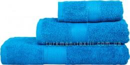 Полотенце 50х70 см ярко-синего цвета 550 г/м2