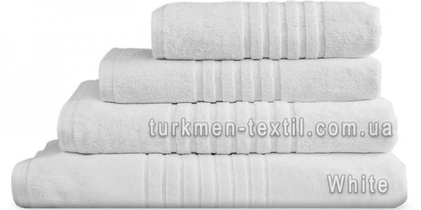 Махровое полотенце 100х150 см белого цвета 530 г/м2