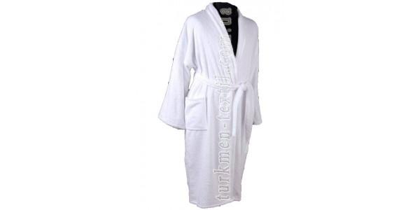 Махровый халат банный с воротником шаль